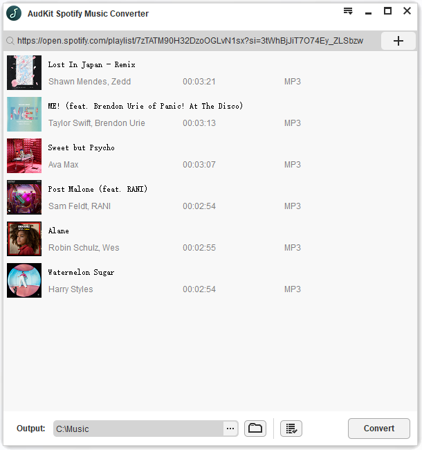 AudKit Spotify Music Converter for Windows full screenshot